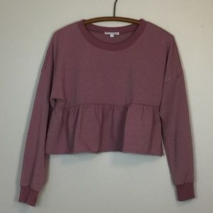 AEO don't ask why Dusty Pink Cropped Sweatshirt OS